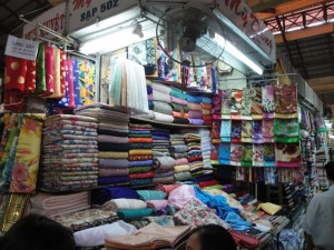 Clothing material shop in Ben Thanh Market