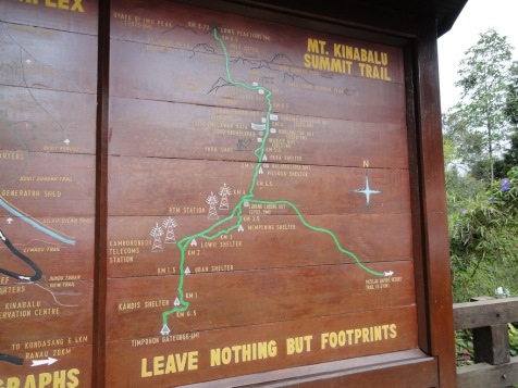 Trekking and hiking path