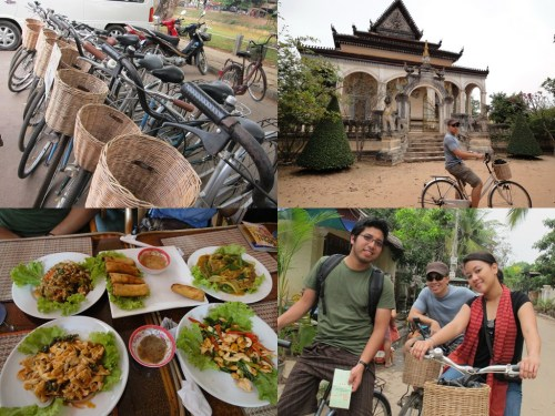 Cycling around Siem Reap