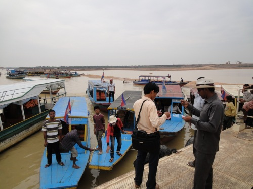 Boat to floating village