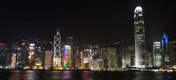 Hong Kong's evening skyline