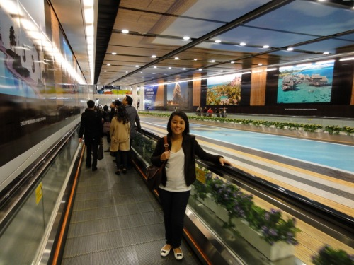 Central MTR to Hong Kong station underground passageway