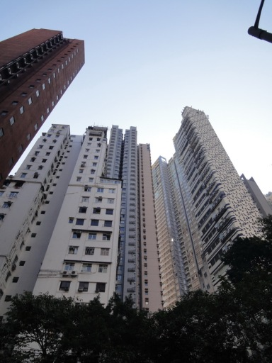 Tall apartments close to each other