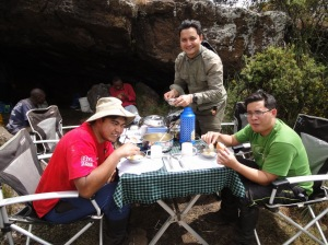 Lunch at Second Cave