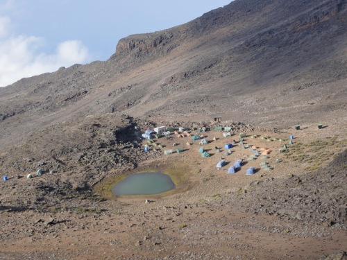 Mawenzi Camp - aerial view