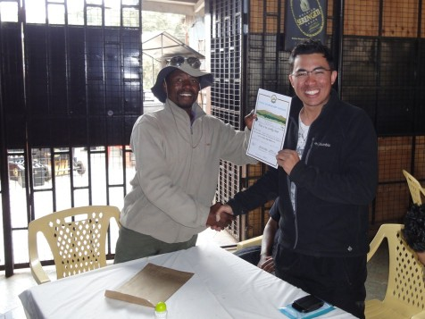 Receiving certificate from Sifuel