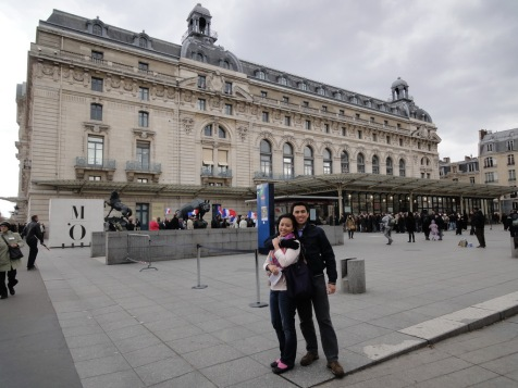 In front of Musee d'Orsay