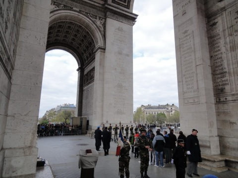 Military memorial under Arc de Triomphe