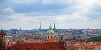 City view from Prague Castle