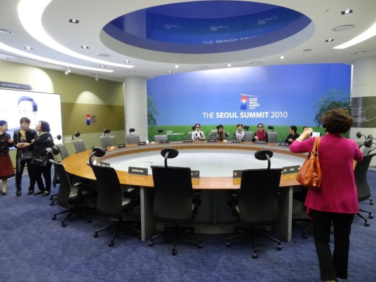 G20 table in Sarangchae