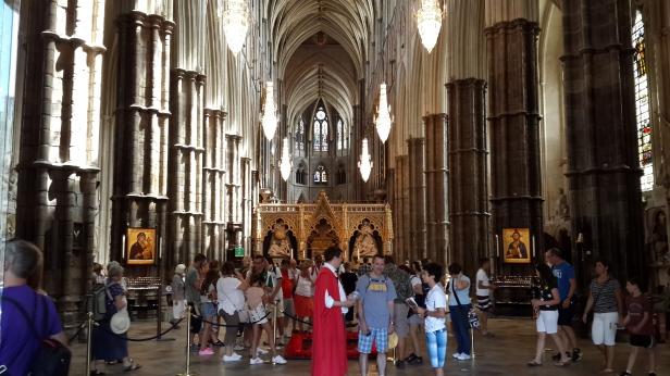 Inside Westminster Abbey