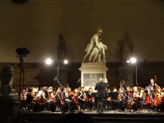 Orchestra at Loggia dei Lanzi