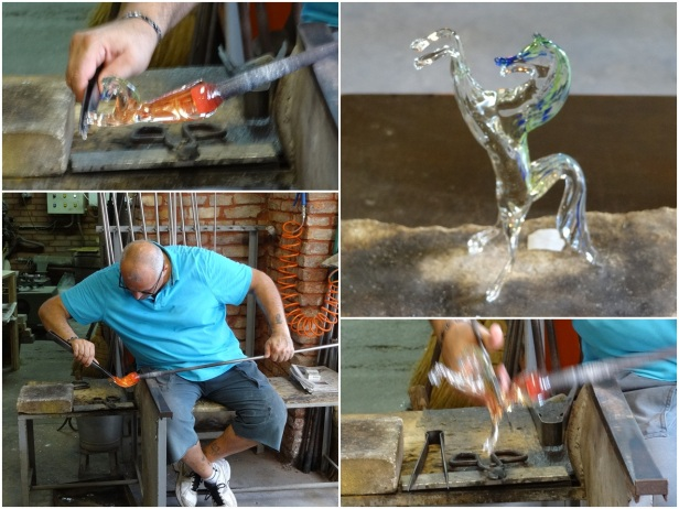 Demonstration by Murano glass masters