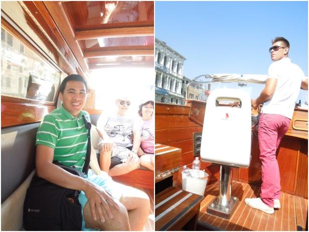 Water taxi to Murano Island