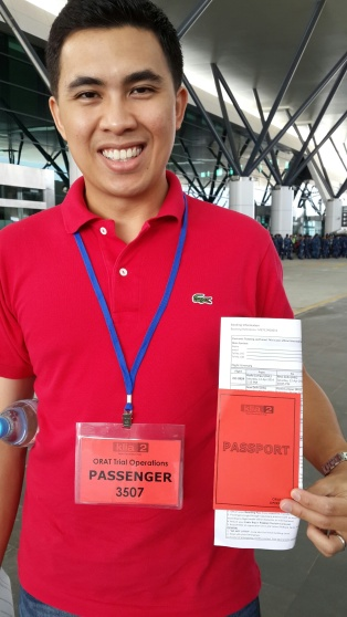 Mock passport and tickets