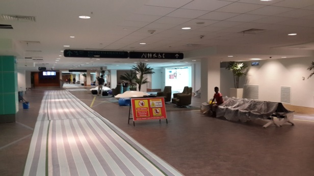 Path to departure hall (domestic wing)