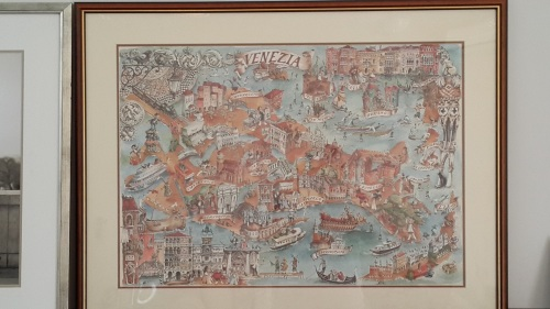 Venice map from La Ricerca