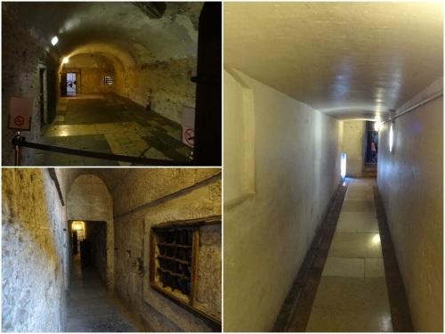 Inside Bridge of Sighs and prison