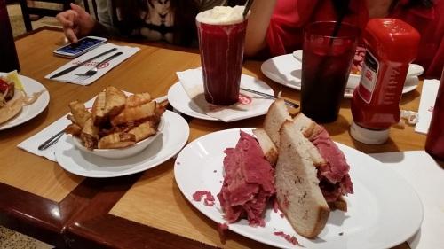 Food at Carnegie Deli