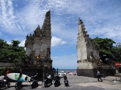 Entrance to Kuta beach