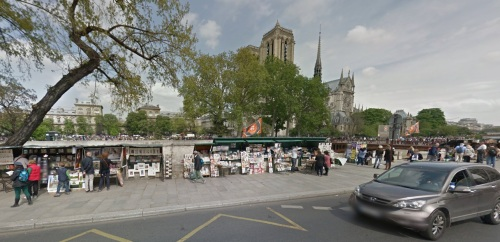 Map shop near Notre Dame (photo from Google Maps)