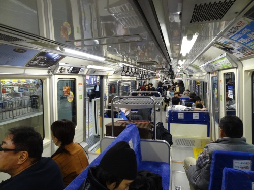 Inside the Hamamatsucho monorail