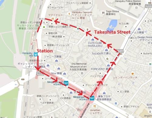 Harajuku walking path