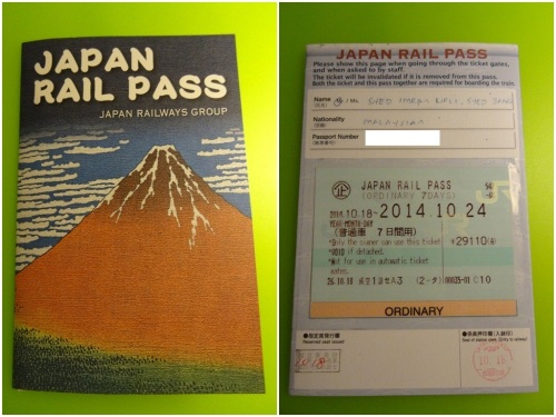 Japan Rail pass tickets