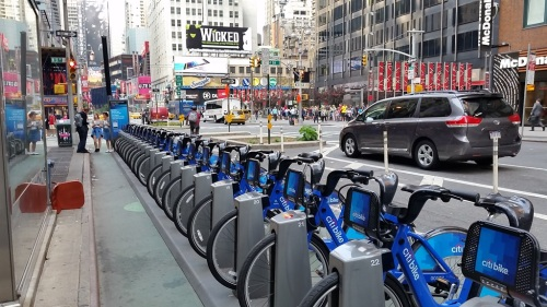 Citibikes on Broadway