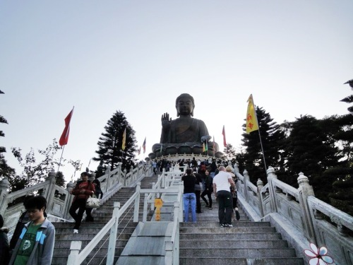 Steps to Tian Tan Buddha Statue