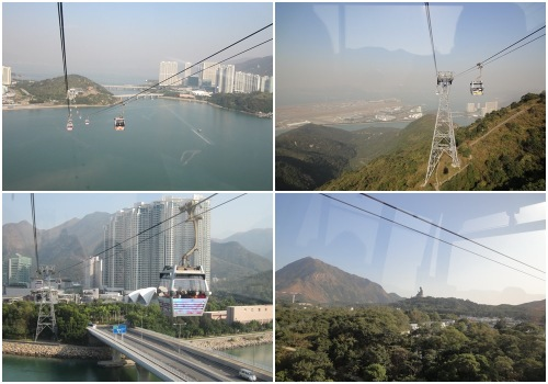 Ngong Ping cable car view
