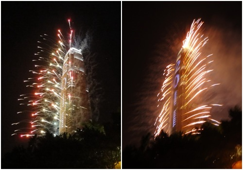 IFC Tower fireworks