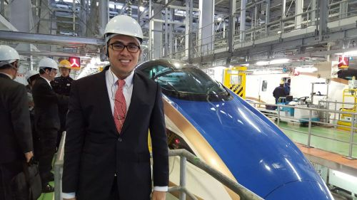 E7 series Shinkansen at Hakusan depot