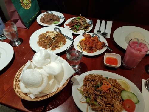 Food at Melur Restaurant