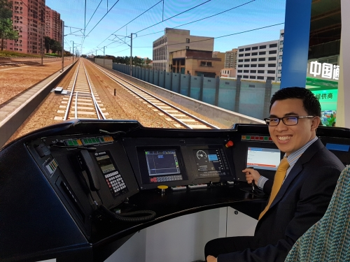 High speed train simulator