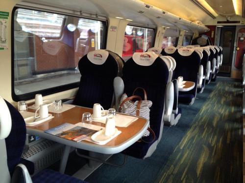 Virgin First Class train (photo from raileurope.com)