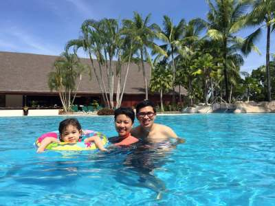 Swimming at Karambunai