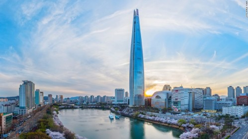 Lotte World Tower (photo from CNN.com)