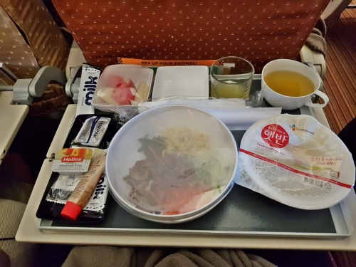 Bibimbap in Singapore Airlines