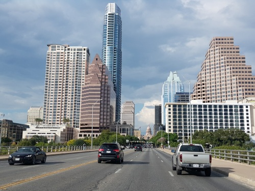 View of Austin City from Congress Avenue