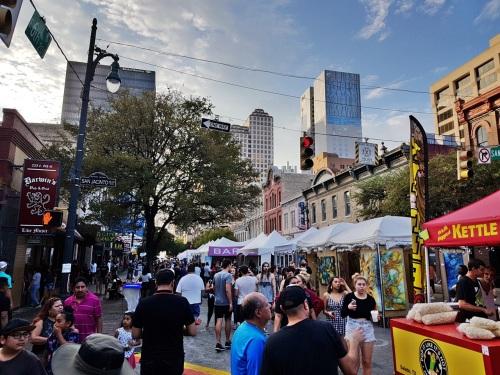 Sunday market on 6th Street