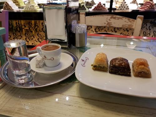 Turkish coffee and sweets
