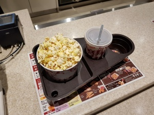Food tray at TOHO Cinema