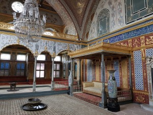 One of the halls in the Harem of Topkapi Palace