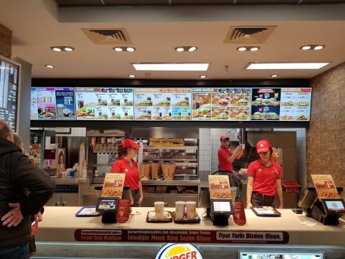 Burger King at SIrkeci