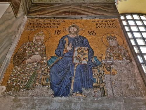 11th century mosaic panel