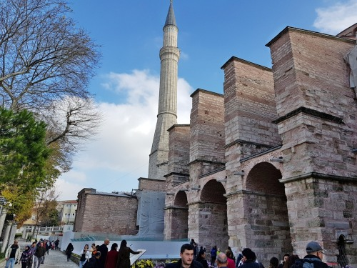 Buttresses added by Emperor Andronicus II (1317CE)