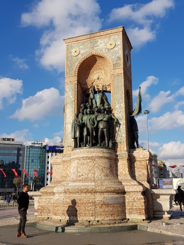 The Republic Monument at Taksim Square