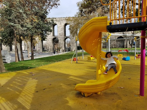 Playground near Valens Aqueduct