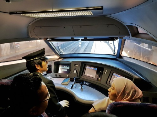 Shinkansen cockpit